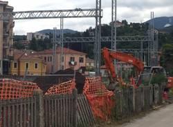 Ferrovia, i lavori in via Carnovali