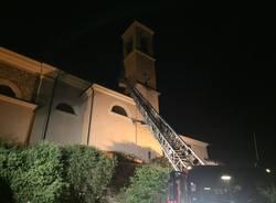 A fuoco il campanile di Carvate