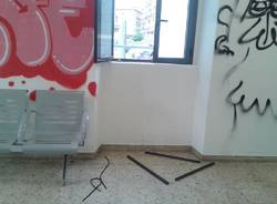 Devastata la stazione di Gazzada Schianno