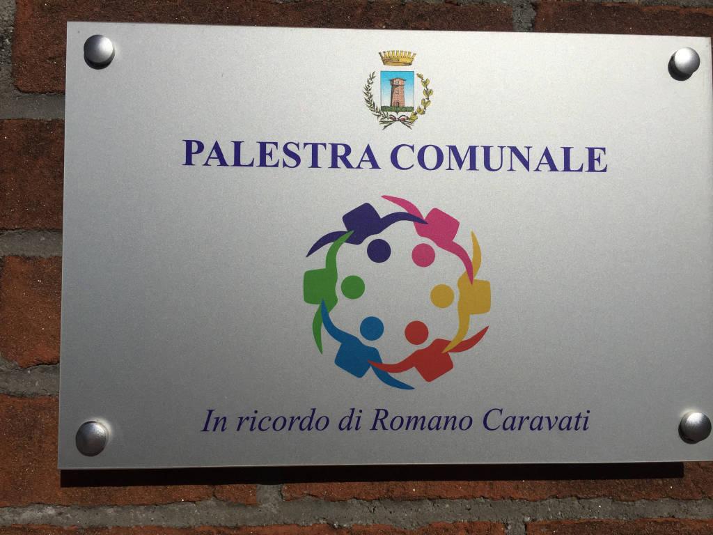 La palestra di Casciago intitolata a Romano Caravati