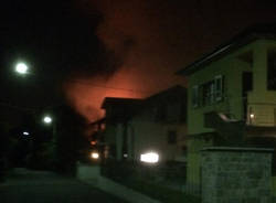 Viggiù - Incendio a Baraggia