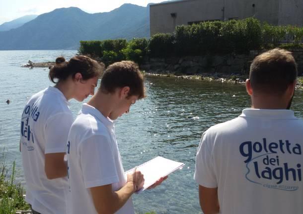 Campionamenti di Legambiente sulle acque del lago Maggiore
