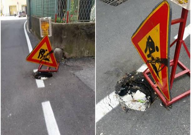 cartello stradale via ferrari varese