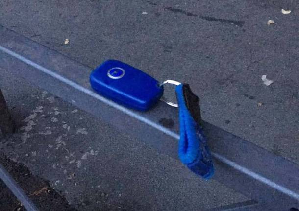 Chiave blu ritrovata a Varese