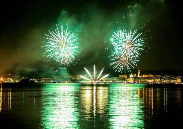 I fuochi d'artificio di Arona
