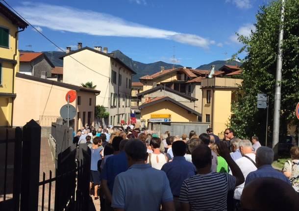 Il funerale di Giorgio Garagnani, alla guida del municipio di Germignaga per trent'anni