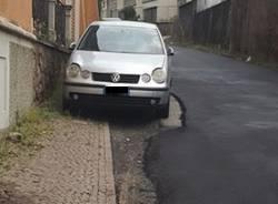 asfalto in via pola