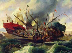 dipinto battaglia di lepanto