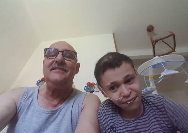 Federico Arca con il papà