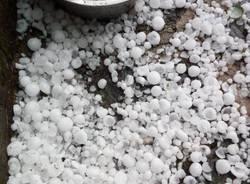 Grandine a Curiglia - neve del 6 agosto