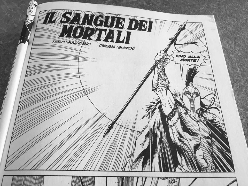 """""""Il sangue dei mortali"""", fumetto di Tommy Bianchi"""