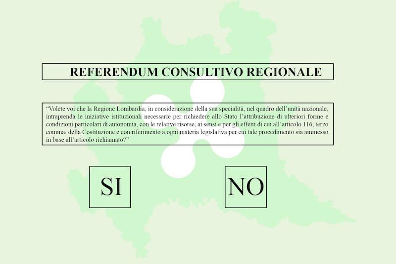 Scheda referendum autonomia Lombardia