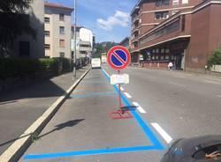 Strisce blu parcheggio sosta