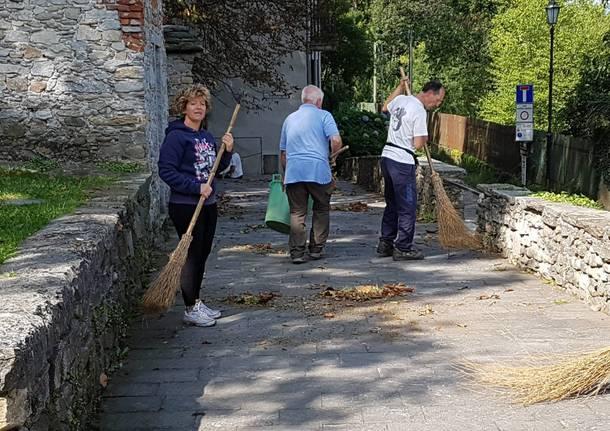Volontari ripuliscono Cazzago Brabbia