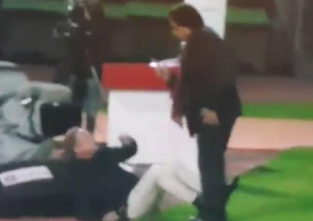aggressione lugano calcio sion calcio
