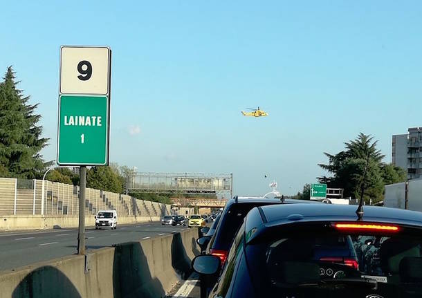 Incidente in A-8, traffico in tilt