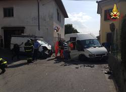 Incidente stradale a Sesto Calende