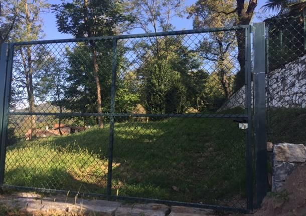 Il cancello alla strada del Lazzaretto