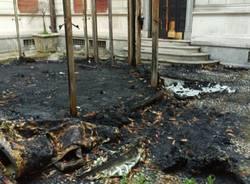 Villa Gianetti: a due mesi dall\'incendio non sono stati rimossi i resti bruciati