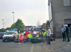 Incidente moto bici busto arsizio
