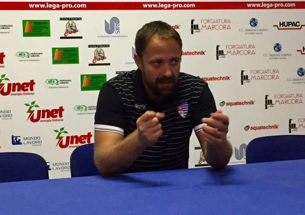 javorcic allenatore pro patria 2017-2018