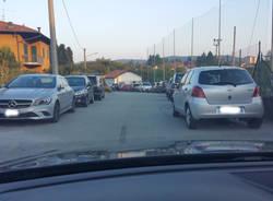 parcheggio selvaggio campo sportivo ternate