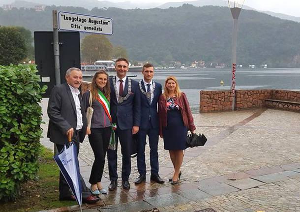 Porto Ceresio - Gemellaggio Augustow: visita della delegazione polacca a Porto
