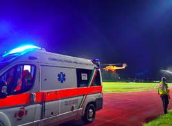 ambulanza con elisoccorso