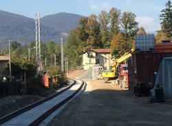 Bisuschio - Stazione e cantiere ferrovia ottobre 2017