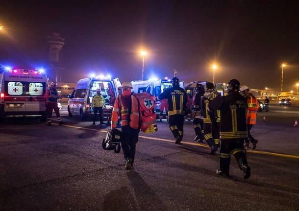 Esercitazione emergenza a Malpensa