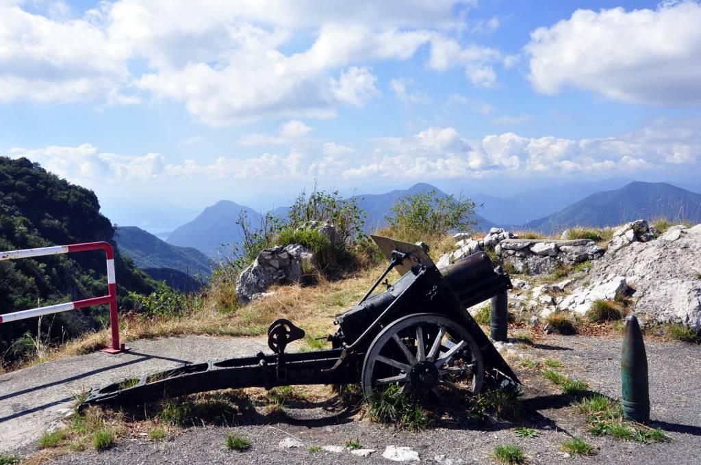 Dove è sparito il cannone sul monte delle Tre croci?