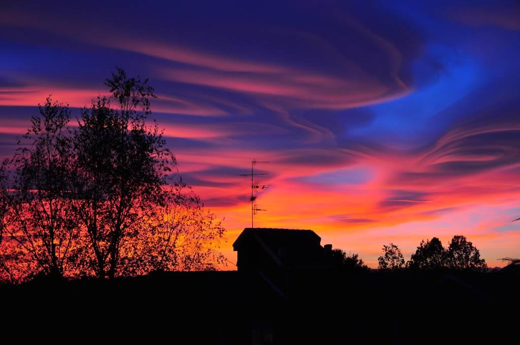Bellissimo tramonto visto da Solbiate Arno