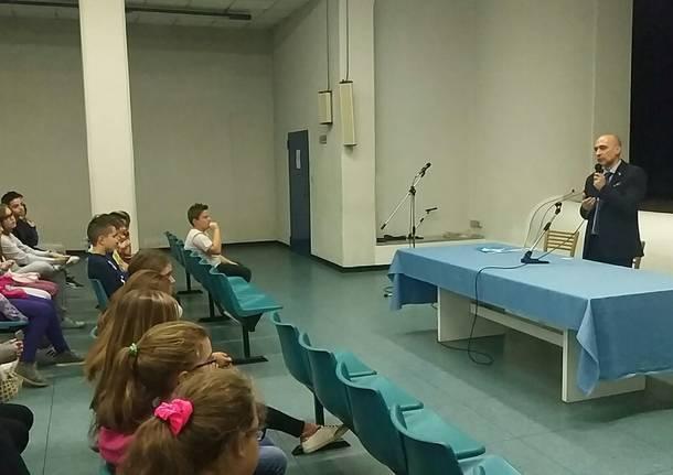 Il presidente Fagioli visita i ragazzini di prima media