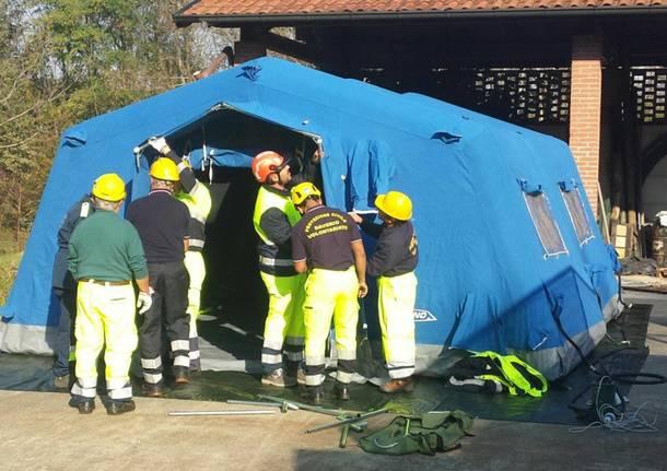 A Inarzo l'esercitazione della protezione civile
