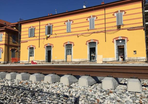 Porto Ceresio – Il cantiere della ferrovia (ottobre 2017)