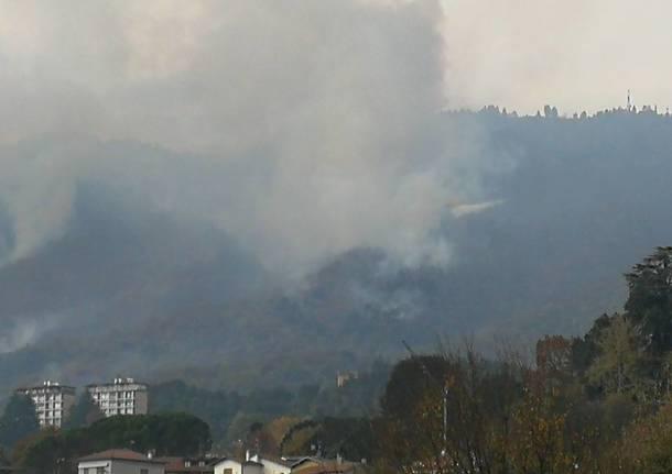 Gli effetti dell'incendio al Poggio di Luvinate