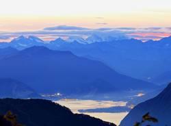 Il lago Maggiore visto dal Campo dei Fiori