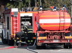 Incendio al Campo dei Fiori, le immagini di lunedì 30 ottobre