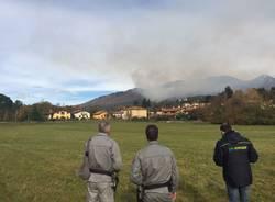 Incendio Campo dei Fiori - Il Prefetto a Casciago