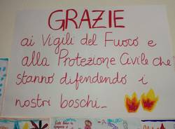 Incendio visto dai bambini asilo Comerio