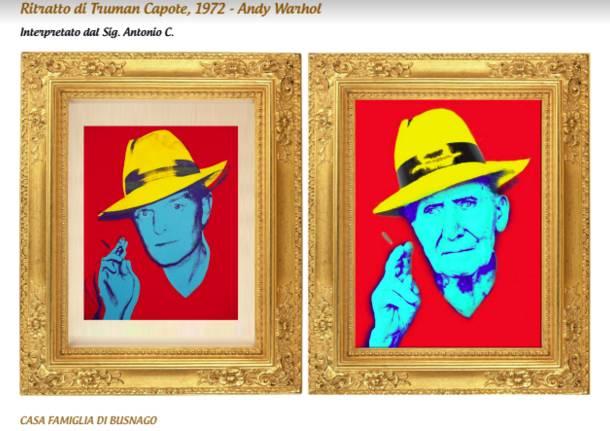 Anziani protagonisti di una mostra fotografica di quadri d'autore