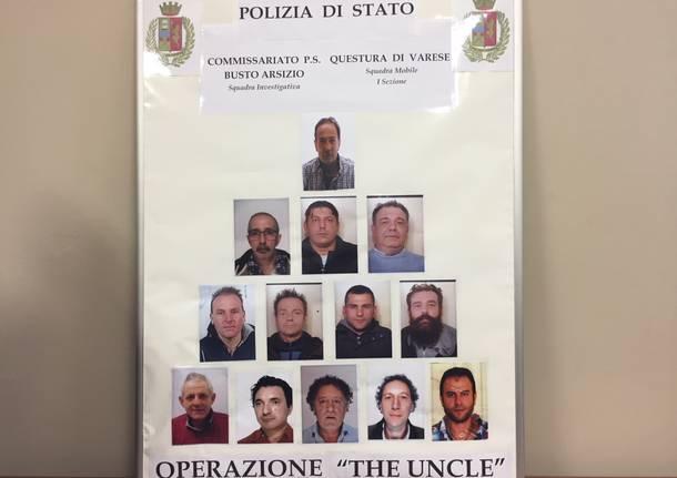 operazione the uncle commissariato polizia busto arsizio