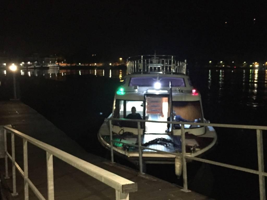 Porto Ceresio - Il battello dei frontalieri, primo viaggio