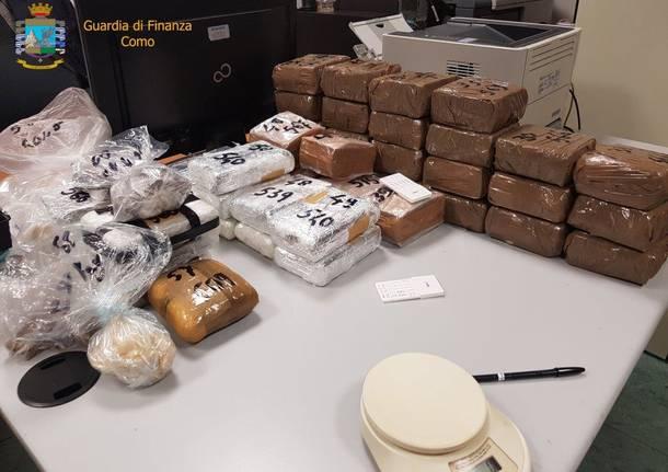 Sequestro di droga a Como, Guardia di Finanza