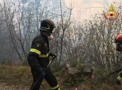 vigili del fuoco osservatorio schiaparelli incendio campo dei fiori