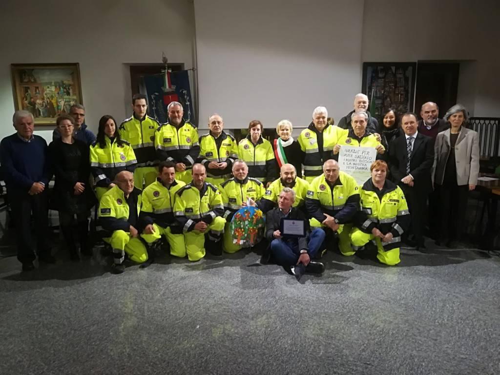 A Gavirate il ringraziamento ai volontari della Protezione Civile