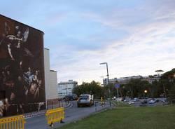 Andrea Ravo Mattoni, il murales al Policlinico Gemelli di Roma