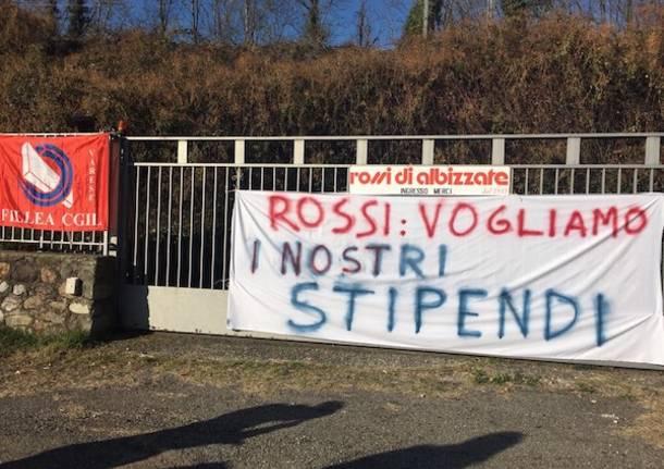 Continua la protesta alla Rossi di Albizzate