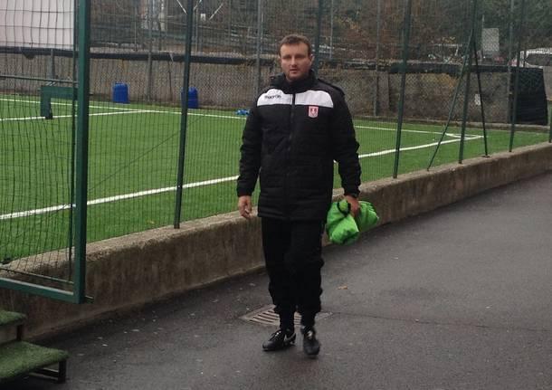 Il primo allenamento al Varese Calcio di Paolo Tresoldi