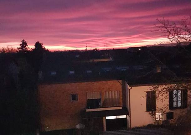 Il super tramonto di martedì 21 novembre